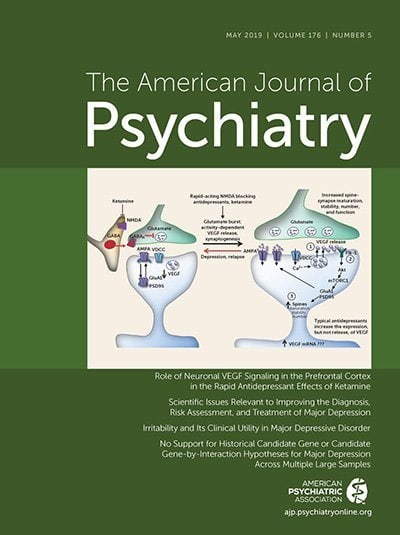 American Journal of Psychiatry - Ketamine Article Cover